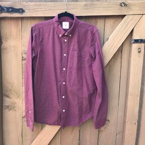 Size M GAP burgundy modern Oxford button down